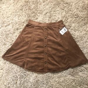 NWT Charlotte Russe Faux Suede Skirt